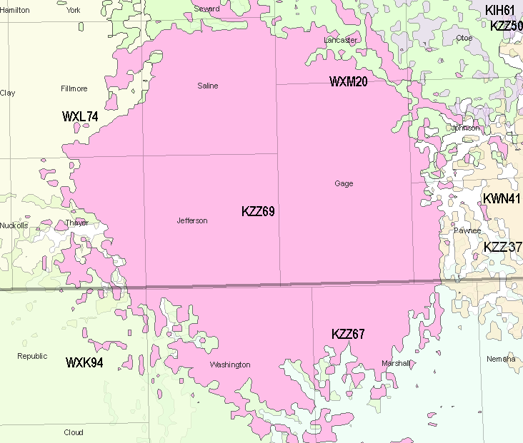 KZZ69 coverage map